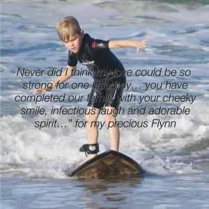 Happy birthday my beautiful Flynn…